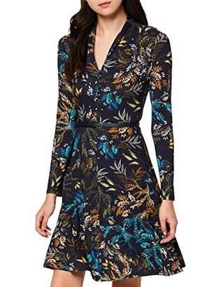 Joe Browns Womens Button Up Front Floral Jersey Dress Blue