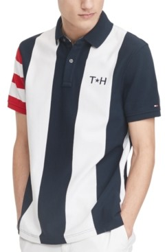 Tommy Hilfiger Men's Abram Custom-Fit Colorblocked Stripe Polo Shirt