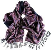 Omodeo Cashmere and Silk Satin Double Faced Scarf
