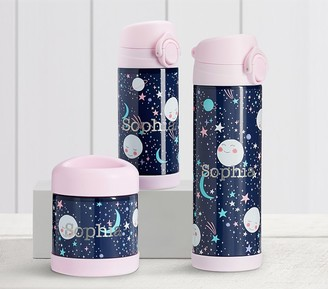 Pottery Barn Kids Mackenzie Pink Navy Moons Glow-in-the-Dark Hot & Cold Container