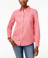 Charter Club Textured Windowpane Shirt, Only at Macy's