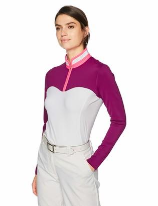 Cutter & Buck Annika Women's Moisture Wicking Drytec UPF 50+ Long Sleeve Mock Shirt