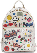 Anya Hindmarch Off-White All-Over Stickers Mini Backpack