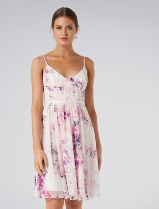 Forever New Rachel Rouched Soft Prom Dress - Digital Floral Print - 4