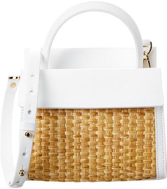 Nico Giani Eris Mini Straw & Leather Bucket Bag