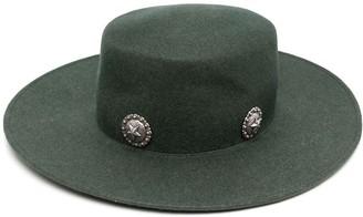 Kate Cate Caballera stud-embellished fedora hat