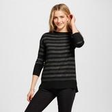 Merona Women's Shine Stripe Crew Neck Luxe
