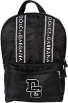Dolce & Gabbana Logo Patches Nylon Backpack