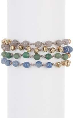 Melrose and Market Round Bead & Stone Wrap Bracelet
