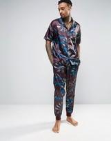 Asos Slim Satin Pyjama Bottom With Paisley Print