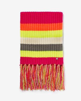 Express Stripe Color Block Knit Oblong Scarf