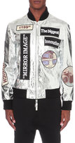 Blood Brother Modules Leather Bomber Jacket