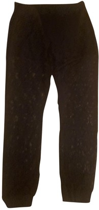 Gaelle Bonheur Black Cotton Trousers for Women