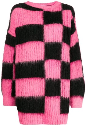 MSGM Oversized Checked Sweater