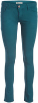 Couture Miss Kitty Women's Casual Pants Teal - Teal Low-Rise Skinny Jeans - Juniors