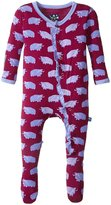 Kickee Pants Print Ruffle Footie (Baby) - Melody Musk Ox - 18-24 Months