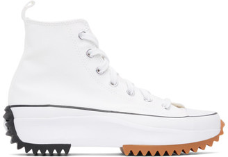 Converse White Run Star Hike Hi Sneakers
