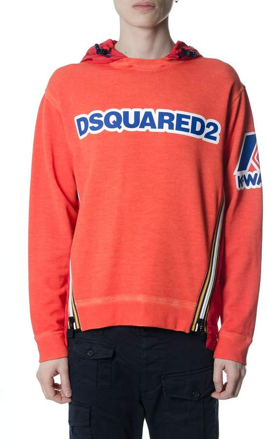 DSQUARED2 Capsule Kway Orange Sweatshirt