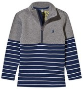 Joules Stripe Panelled Half Zip Sweater