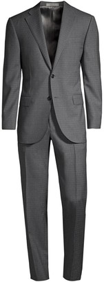 Corneliani Sharkskin Virgin Wool Suit
