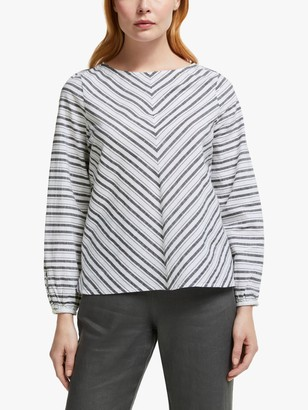 John Lewis & Partners Cotton Stripe Top