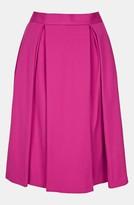 Topshop Double Pleat Skirt Magenta 6
