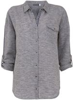 Mint Velvet Silver Grey Marl Shirt