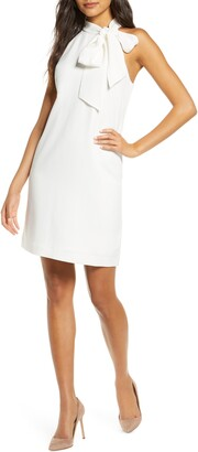 Vince Camuto Halter Tie Neck A-Line Dress