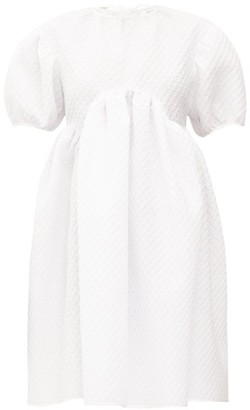 Cecilie Bahnsen Thelma Gathered Floral-matelasse Dress - White