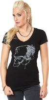 Metal Mulisha etalulisha Woen's Wrath V-Neck Graphic T-Shirt-ediu