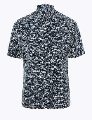 Marks and Spencer Geometric Print Relaxed Fit Shirt
