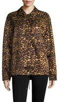 Alexander Wang Classic Coaches Leopard-Print Jacket