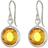 Alex and Ani Swarovski Color Code Earrings (November/Topaz Color/Shiny Silver) Earring