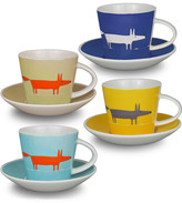 Mr Fox Espresso Cup and Saucers