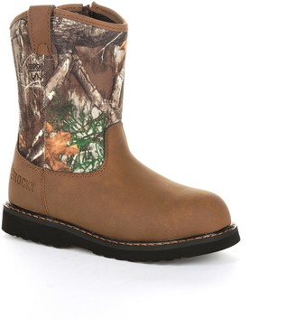 Rocky Lil Ropers Toddler Camo Wellington Boots