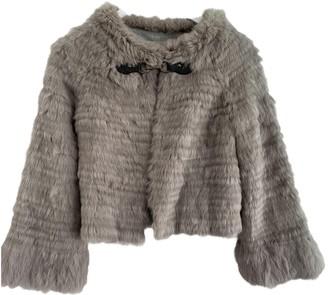 Georges Rech Grey Rabbit Jacket for Women
