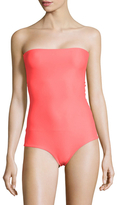 Mikoh Antigua Strapless Macrame Back One Piece Swimsuit