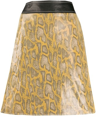 Stand Studio snake-effect A-line skirt