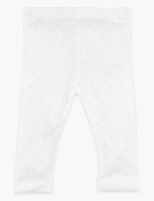 Marks and Spencer Organic Cotton Star Design Leggings (7lbs-12 Mths)