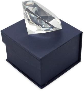 Leeber Elegance Glass Diamond-Shaped Paperweight