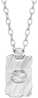 Gucci Textured Metal Pendant Necklace