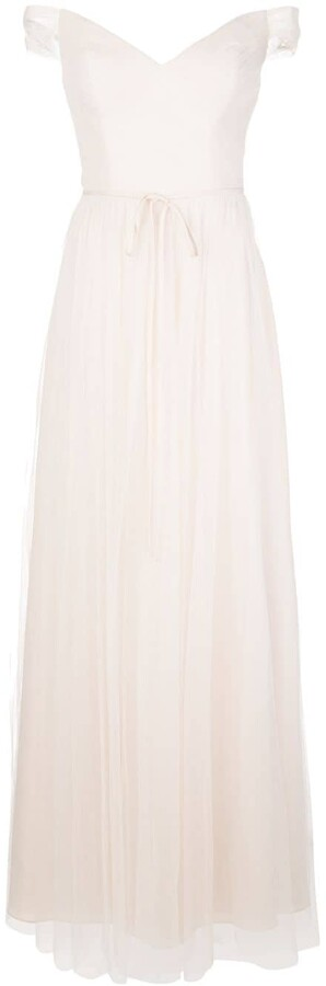 Thumbnail for your product : Marchesa Notte Bardot Bridesmaid Dress