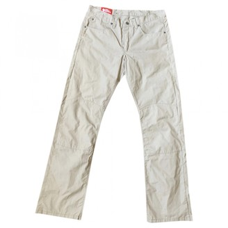 Fjallraven Beige Cloth Trousers for Women