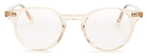 Garrett Leight Clune 41 Round Frame Glasses - Womens - Nude