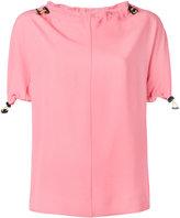 Marni drawstring trim blouse - women - Acetate/Viscose - 38