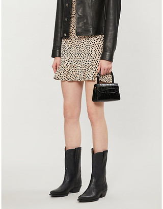 Pacsun Leopard-print woven mini skirt