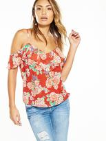 Very Cold Shoulder Printed Cami