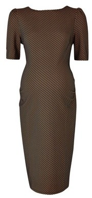 Dorothy Perkins Womens Dp Maternity Multi Colour Geometric Print Textured Bodycon Dress