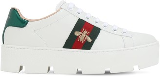 Gucci 40mm New Ace Leather Platform Sneakers
