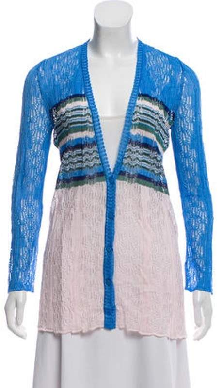Missoni Lightweight Striped Cardigan blue Lightweight Striped Cardigan